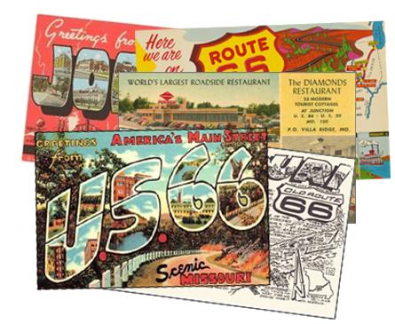 Postcards Route 66 Missouri