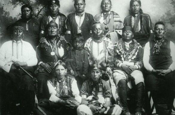 Men Of The Osage Nation Historical Photo
